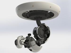 Lampada stampata in 3D con braccio meccanico