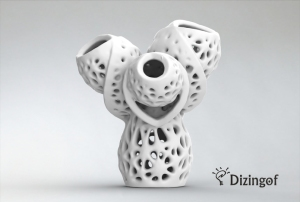 StampaIn3d Smyth Delaunay Math Vase for Ceramics