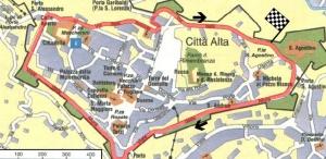 Mappa Circuito Delle Mura Di Bergamo