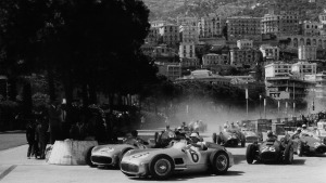 Juan Manuel Fangio [2] e Stirling Moss [6] - 1955 - Monaco GP